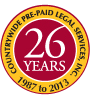 Countrywide Pre-Paid Legal Services Inc. 26 Years
